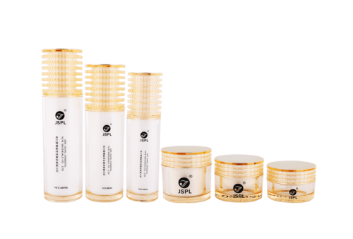 Light Yellow Multi-layer Cosmetic Bottle Series